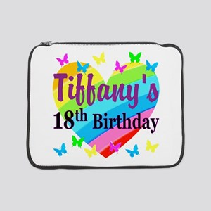 """PERSONALIZED 18TH 15"""" Laptop Sleeve"""