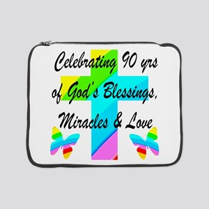 "90 YR OLD BLESSING 15"" Laptop Sleeve"