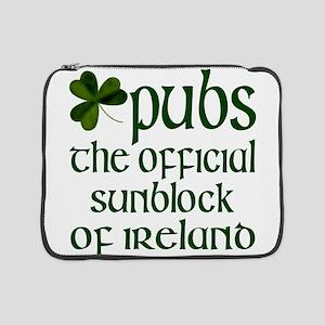 "Irish Sunblock 15"" Laptop Sleeve"