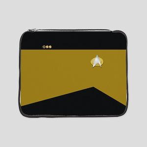 "Star Trek: TNG Gold Lt. Cmdr. 15"" Laptop Sleeve"