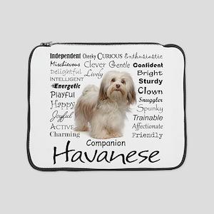 "Havanese Traits 15"" Laptop Sleeve"