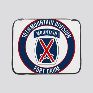"10th Mountain Ft Drum 15"" Laptop Sleeve"