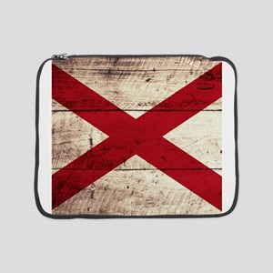 "Wooden Alabama Flag3 15"" Laptop Sleeve"