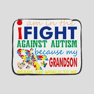 "Im Fight Against Autism Grandson 15"" Laptop Sleeve"