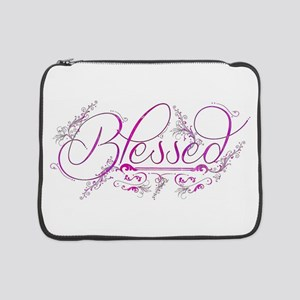 "Blessed fuchsia flourish 15"" Laptop Sleeve"