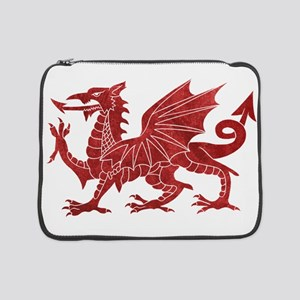 "Welsh Red Dragon 15"" Laptop Sleeve"