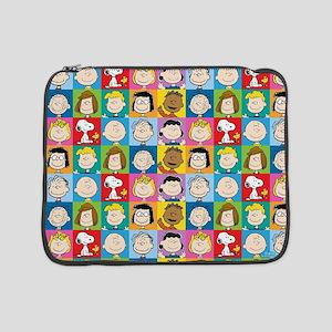 "Peanuts Back to School Pattern 15"" Laptop Sleeve"