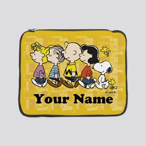 "Peanuts Walking Personalized 15"" Laptop Sleeve"