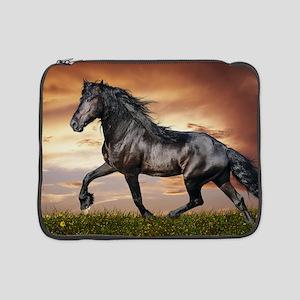 "Beautiful Black Horse 15"" Laptop Sleeve"