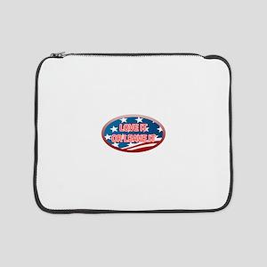 """LOVE IT OR LEAVE IT! AMERICAN FL 15"""" Laptop Sleeve"""