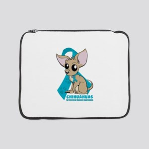 """Chihuahuas for Cervical Cancer 15"""" Laptop Sleeve"""