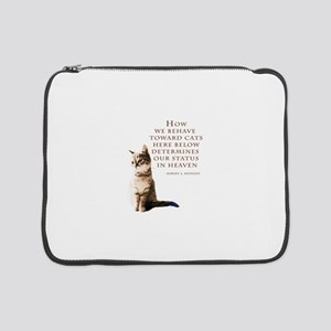 """cats-and-heaven-card 15"""" Laptop Sleeve"""