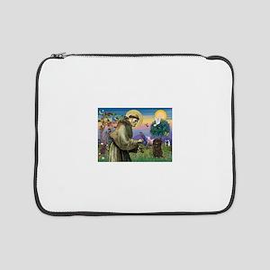 """St Francis / Affenpinscher 15"""" Laptop Sleeve"""