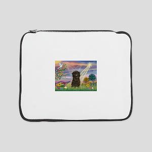 """Cloud Angel / Affenpinscher 15"""" Laptop Sleeve"""