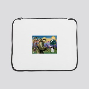 "St Francis / Japanese Chin 15"" Laptop Sleeve"