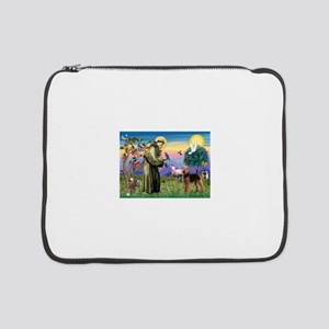 """St Francis / Airedale 15"""" Laptop Sleeve"""