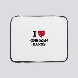 """I love One-Man Bands 15"""" Laptop Sleeve"""