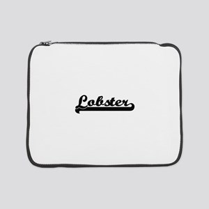"Lobster Classic Retro Design 15"" Laptop Sleeve"