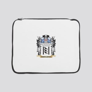 """Snodgrass Coat of Arms - Family 15"""" Laptop Sleeve"""
