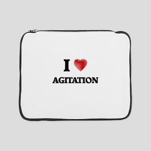 "I Love AGITATION 15"" Laptop Sleeve"