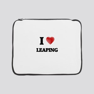 """I Love Leaping 15"""" Laptop Sleeve"""