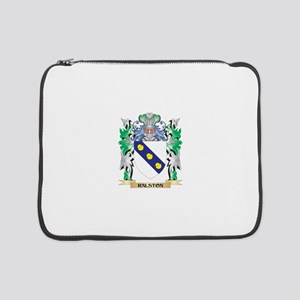"""Ralston Coat of Arms - Family Cr 15"""" Laptop Sleeve"""