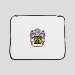 """Carroll Coat of Arms (Family Cre 15"""" Laptop Sleeve"""