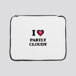 """I love Partly Cloudy 15"""" Laptop Sleeve"""