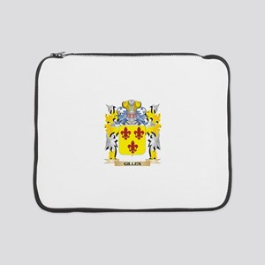 """Gillen Coat of Arms - Family Cre 15"""" Laptop Sleeve"""