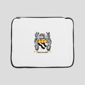 "Clemente Family Crest - Clemente 15"" Laptop Sleeve"