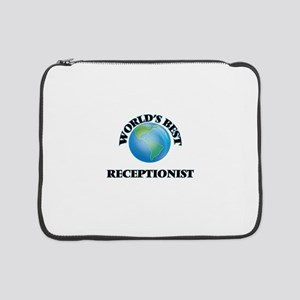 "World's Best Receptionist 15"" Laptop Sleeve"