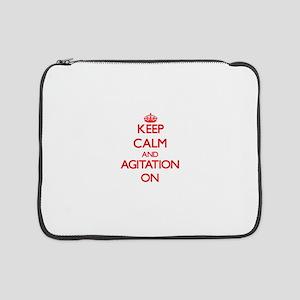 """Keep Calm and Agitation ON 15"""" Laptop Sleeve"""