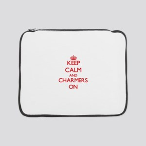 "Keep Calm and Charmers ON 15"" Laptop Sleeve"