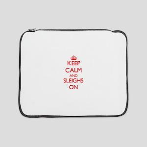 "Keep Calm and Sleighs ON 15"" Laptop Sleeve"