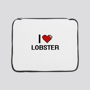 "I Love Lobster digital retro des 15"" Laptop Sleeve"