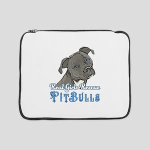 "Real Girls Rescue Pitbulls 15"" Laptop Sleeve"