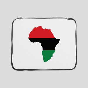 "Red, Black and Green Africa Flag 15"" Laptop Sleeve"