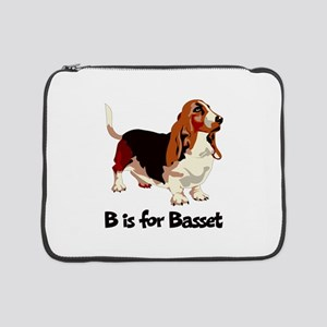 "B is for Basset 15"" Laptop Sleeve"