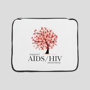 "AIDSHIV-Tree 15"" Laptop Sleeve"