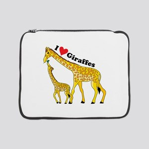 "giraffe and baby cp 15"" Laptop Sleeve"