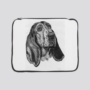 "Basset Hound 15"" Laptop Sleeve"
