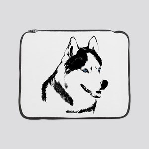 "Siberian Husky Sled Dog 15"" Laptop Sleeve"