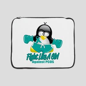 "PCOS-Fighting-Penguin 15"" Laptop Sleeve"