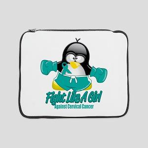 """Cervical-Cancer-Fighting-Penguin 15"""" Laptop Sl"""