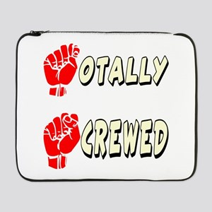 "ASL Totally Screwed 17"" Laptop Sleeve"