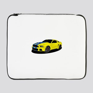 "Muscle car yellow 17"" Laptop Sleeve"