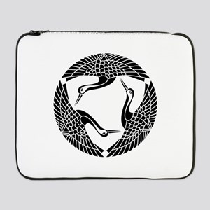 "Circle of three cranes 17"" Laptop Sleeve"