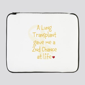 """2nd Chance At Life (Lung) 17"""" Laptop Sleeve"""
