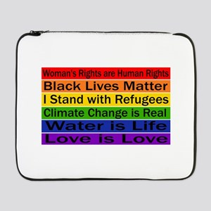 """Political Protest 17"""" Laptop Sleeve"""