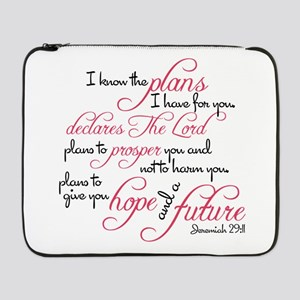 "Jeremiah 29:11 Design 17"" Laptop Sleeve"